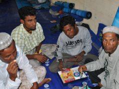 Pengungsi Rohingya yang sedang berada di Aceh