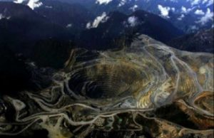 Area pertambangan PT Freeport di Papua
