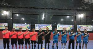 Kapolres, Kajari dan pejabat lainnya, foto bersama sebelum bertanding futsal
