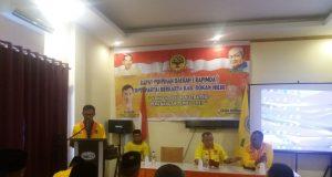 Acara Rapimda yang digelar Partai Berkarya Kabupaten Rokan Hilir.