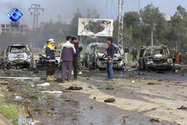 Sebuah bom meledak di area pengungsi Suriah