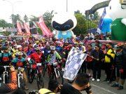 Bupati Sukiman bersama Kapo_res dan pejabat Forkopimda, lepas ratusan biker peserta Tour De Rohul 2018