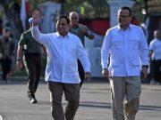 Prabowo saat menyambangi Istana