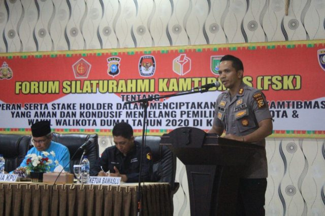 Kapolres Dumai AKBP Andri Ananta Yudhistira, S.I.K, M.H saat memberikan kata sambutan