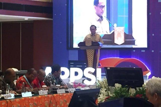 Mendagri Tito Karnavian dalam acara Munas APPSI VI di Hotel Borobudur, Jakarta, Selasa (26/11). Foto: Abyan Faisal Putratama/kumparan