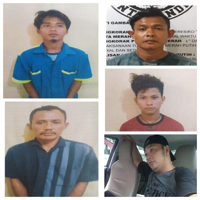 5 tahanan yang kabur dengan membobol ventilasi dan merusak gembok sel Mapolsek Pulau Raja.